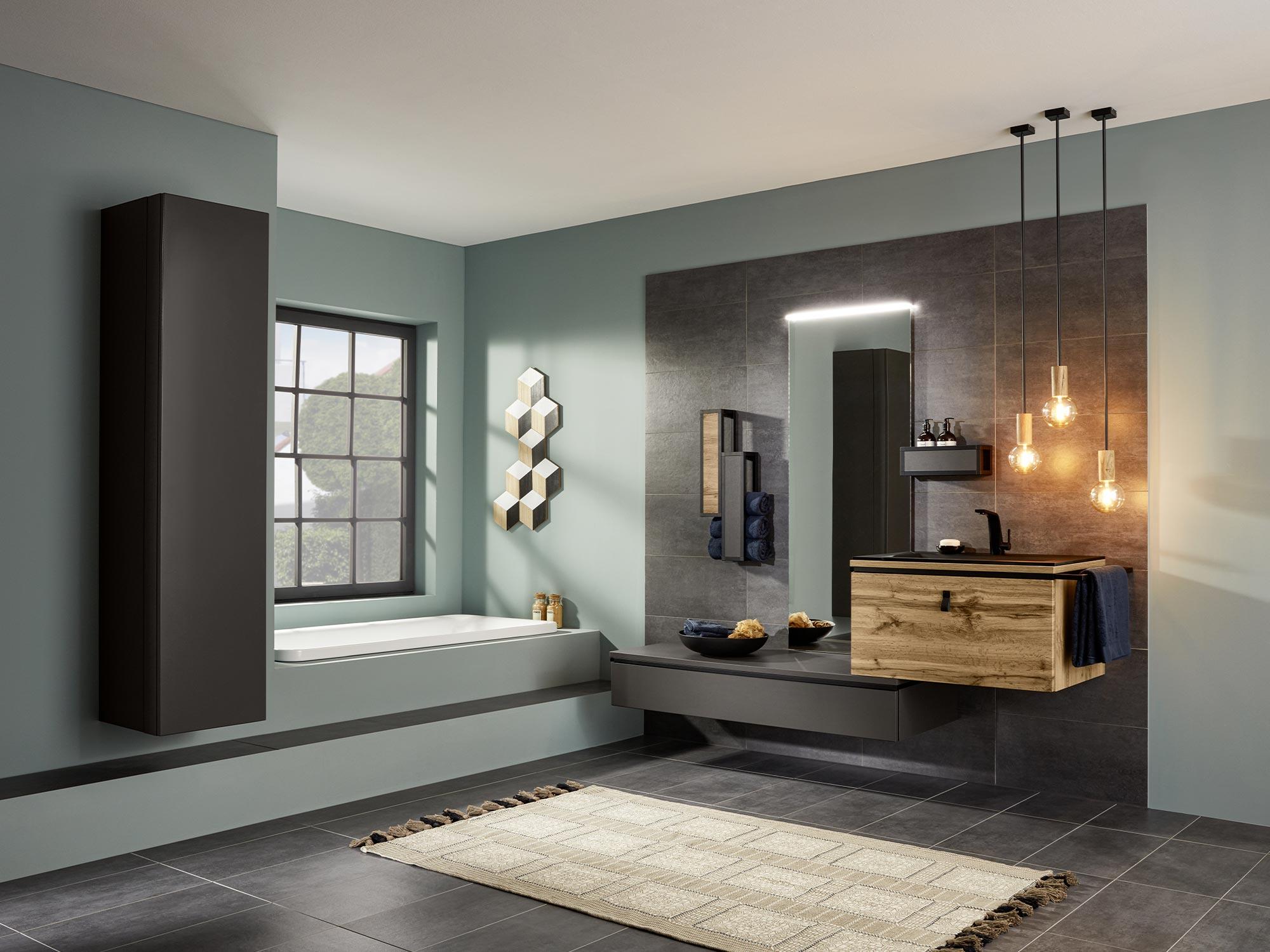 Badmöbel, Badezimmermöbel, Spiegelschränke, Waschbecken