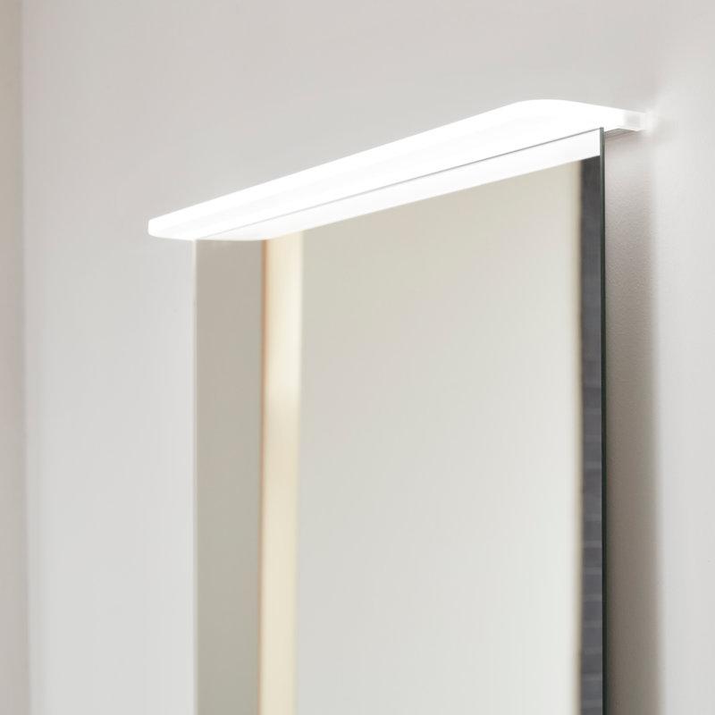 Flächenspiegel Verde mit LED-Lichtsegel